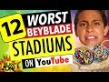12 Worst Beyblade Stadiums on Youtube!  Epic Compilation of Funny Beyblade Stadiums!