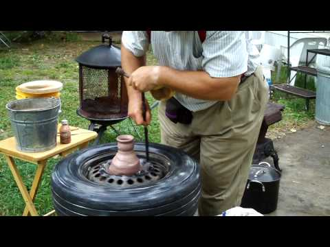 Potters wheel made easy in tyre inner tube diy  with Wheel pottery Ceramic