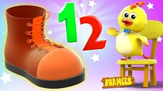 One Two Buckle My Shoe   Video For Toddlers   Song For Kids by Farmees