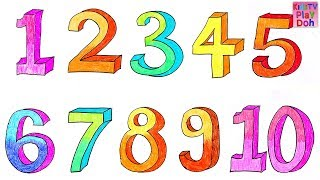 Learn Numbers 1 To 10 For Kids Children Babies Toddlers   Number Song   Kids TV Play Doh   Preschool
