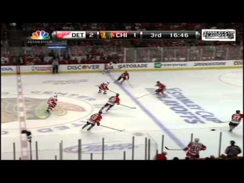 Wings @ Hawks Game 2 2013 (Game Highlights - NBC)