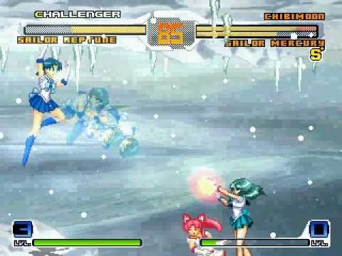 Sailor Neptune Vs Sailor Chibimoon-Mercury Mugen