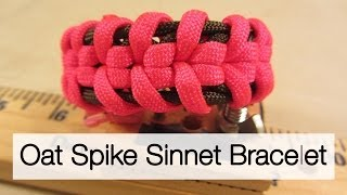 How To Make An Oat Spike Sinnet Paracord Bracelet
