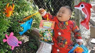 Trò Chơi Đi Săn Kẹo Cá ❤ ChiChi ToysReview TV ❤ Đồ Chơi Trẻ Em Baby Doli
