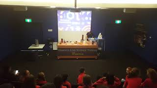 Science Space Excursion - Liquid Nitrogen used to pop balloon