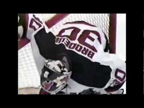Martin Brodeur Scores Versus Canadiens in 1997