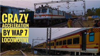 Crazy and quick Acceleration by WAP 7 | Durg Antyodaya express meets Fully loaded BOXN