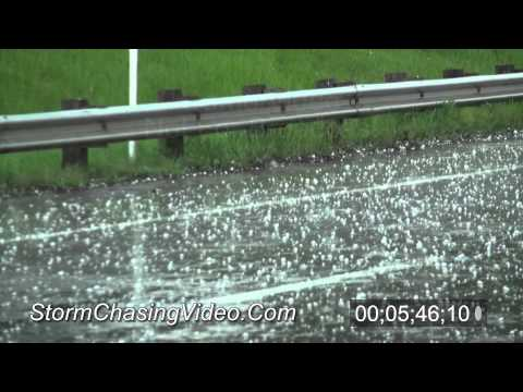 5/21/2011 Topeka, KS Hail And Tornado B-Roll Stock Footage