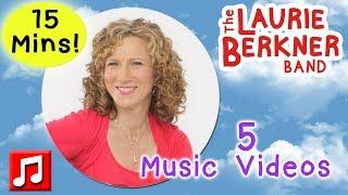 15 Minutes of Nonstop Laurie Berkner Music Videos For Kids!