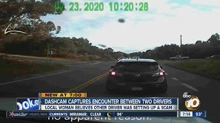 Local driver believes incident caught on dashcam was insurance scam