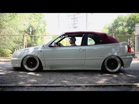 VW Golf MK3 Cabrio - LOW RIDER made in Moldova - YouTube