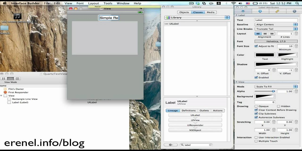Drawing Lines Xcode : Iphone draw a simple line rectangle youtube