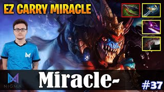 Miracle - Slark Safelane | EZ CARRY MIRACLE | Dota 2 Pro MMR Gameplay #37