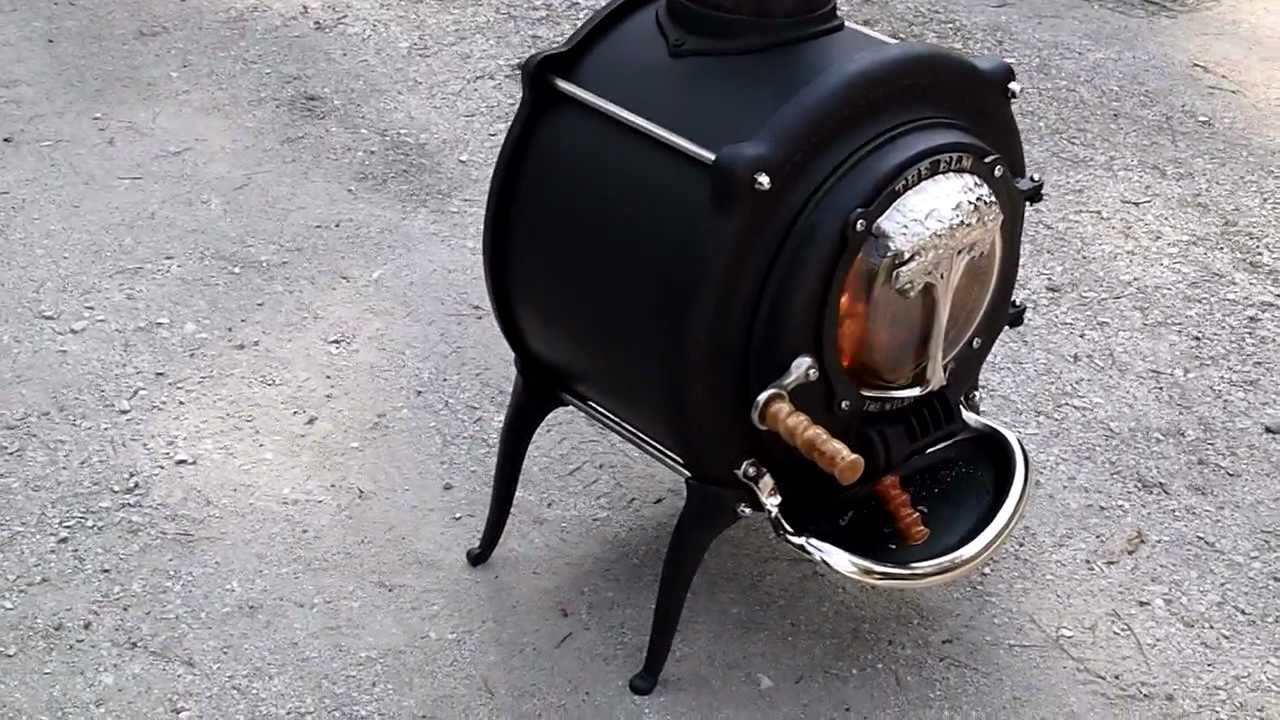 The First British Elm Wood Stove July 2011 Youtube