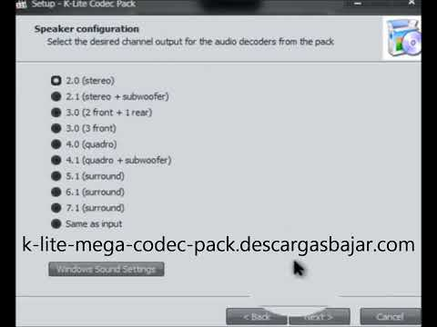 Descargar K Lite Mega Codec Pack Windows 7 y 8 1