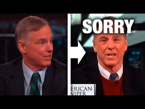 Howard Dean Puts His Tail Between His Legs Over American Sniper Commen...