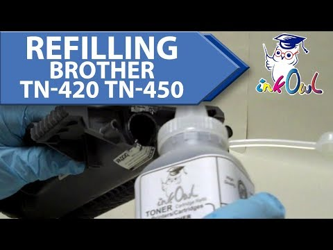 How to Refill a Brother TN-420 or TN-450 Cartridge