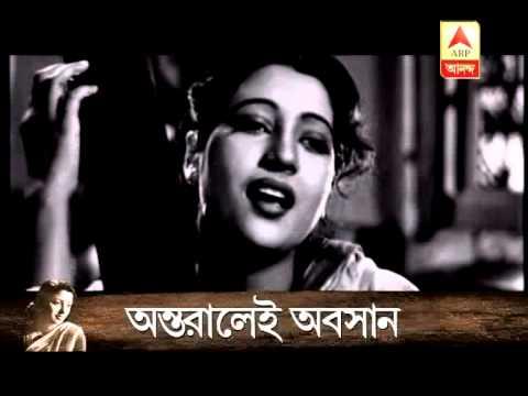 Suchitra Sen behind the curtain