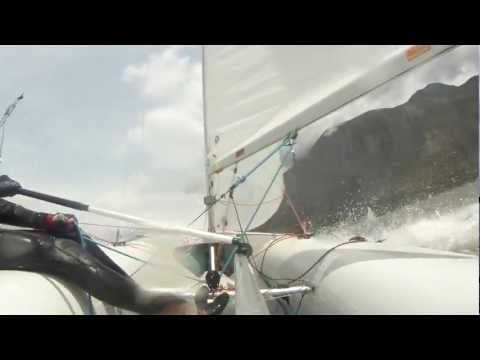 Extreme 420 Sailing South Africa 25-30 Knots wind [HD]