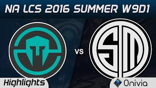IMT vs TSM highlights Game 1 NA LCS 2016 Summer W9D1 Immortals vs Team Solo Mid