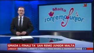 News item national finals SanRemo Junior (Malta, 4-4-2015)