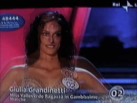 Giulia Grandinetti,Miss Valleverde Marche,at Miss Italia 2009.Bikini Catwalks