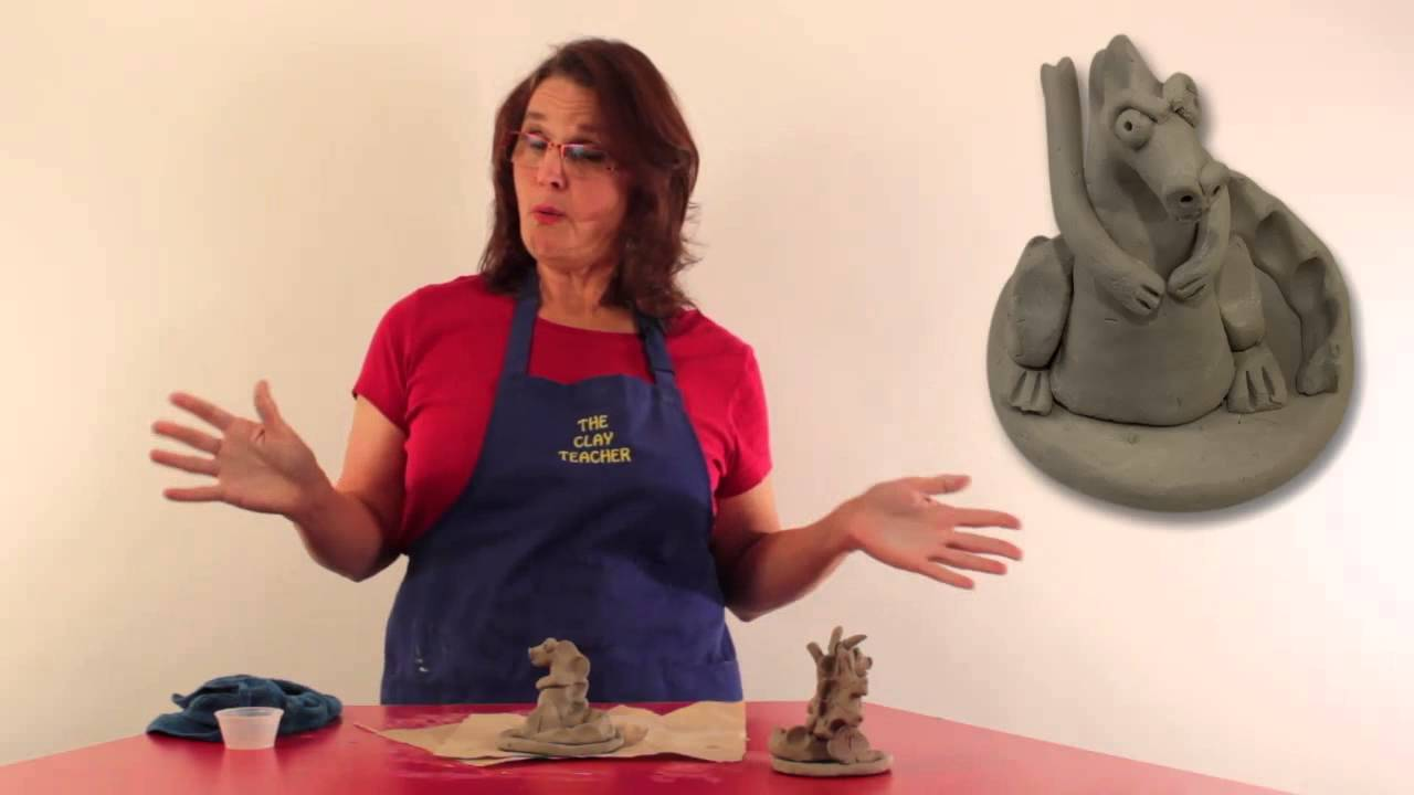 Make A Fantasy Dragon From Air Dried Pottery Clay With The