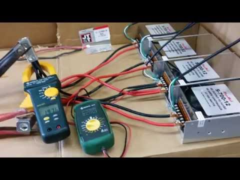 Four MegaWatt S-700-12 Power Supplies Running at 200 Amps 2800 Watts Output - Demo