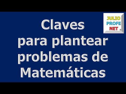 Mensaje de Julioprofe: Claves para plantear problemas de Matemáticas