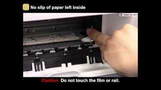 PIXMA MG2420/MG2520: Removing a jammed paper: inside the printer