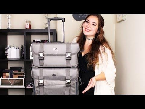 The Best Makeup Travel Bag | Seya 2 in 1 Professional Makeup Artist Rolling Makeup Train Case