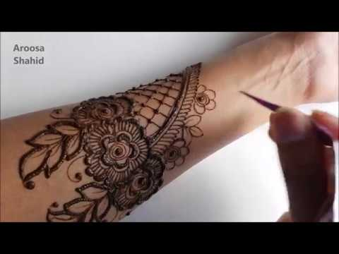 Step by step bridal henna design | Tutorial