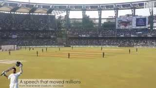 Sachin Tendulkar's farewell speech (LIVE) - A speech that moved millions