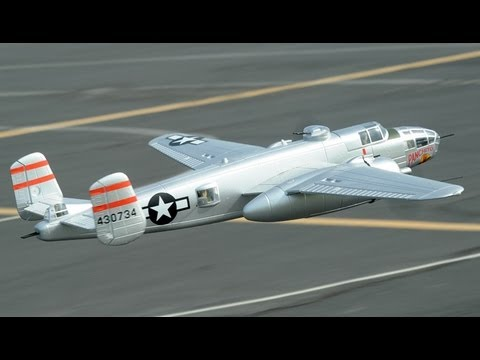 New 1470mm B-25 Mitchell Bomber Brushless RC Plane w/ Retracts Review