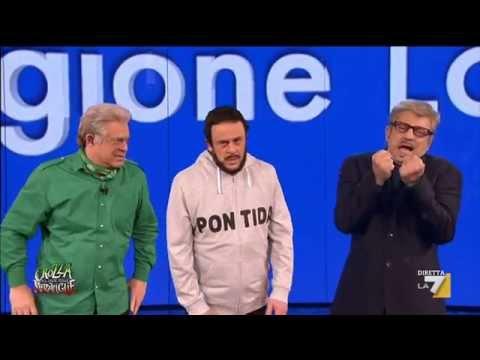 Crozza nel Paese delle Meraviglie – Bossi, Maroni, Salvini ed il menu di Pontida