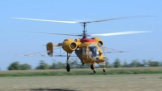 Kamov Ka-26 engine startup, take off and low pass