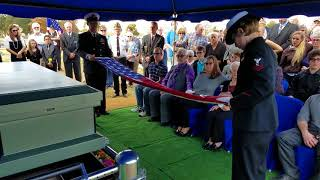 Military Honors Burial - Navy 21 Gun Salute