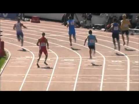 Track runner breaks his leg during 100m sprint