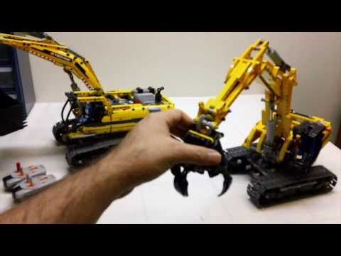 LEGO Technic 42006 Excavator Review and Comparison to LEGO Technic 804...