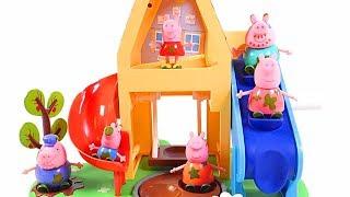 Mejores Videos Para Niños - Peppa Pig Muddy Puddles Family House Fun Videos For Kids