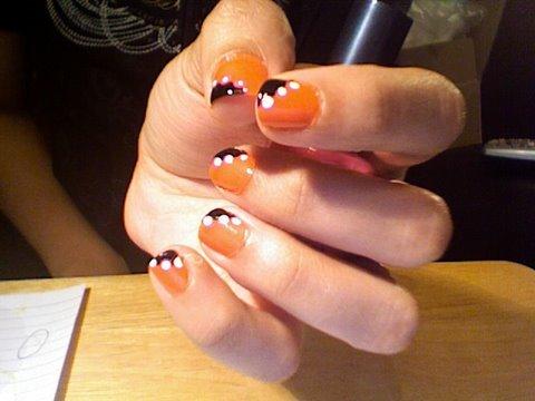 Neon Orange Nail Designs Orange And Black Nail Design