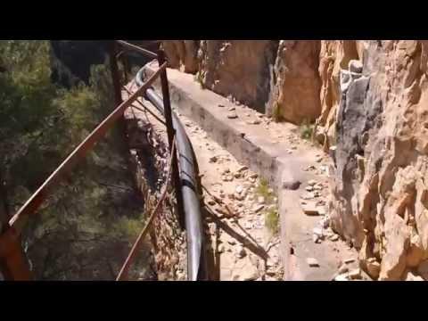 """Paso de """"El Saltillo"""" en sierra Tejeda- Canillas de Aceituno."""