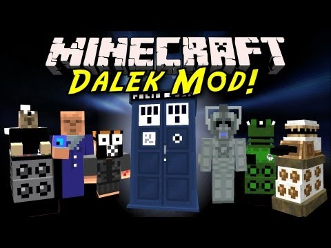 Minecraft Mod Showcase: Dalek Mod! [TARDIS, New Mobs, Bessie!]