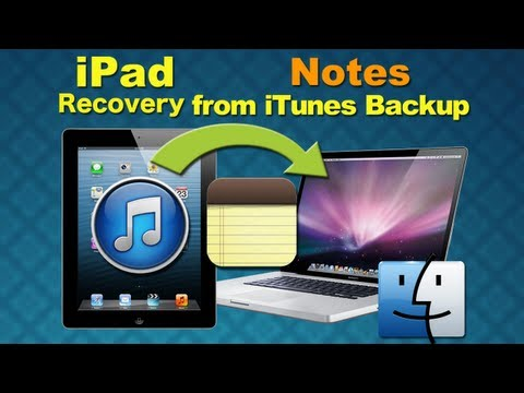 iPad Data Recovery for Mac: How to Recover Lost Notes/Contacts/SMS from iPad iTunes Backup on Mac