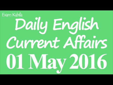 Current Affairs 1 May 2016 in English | Bank | Railways | SSC | UPSC | Competitive Exams