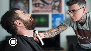 Jack's First Beard Trim in Months with Jake the Barber