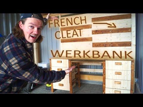 WERKBANK für meine RIESEN GARAGE - FRENCH CLEAT - GARAGENKIND Ep.2