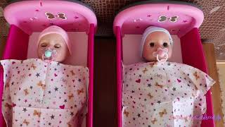 Nursery Set for twins baby dolls Unboxing Set Up,  Play with baby dolls, Role Play Toys for Children