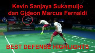 Best Defense Highlight Kevin Sanjaya Sukamuljo dan Gideon Marcus Fernaldi