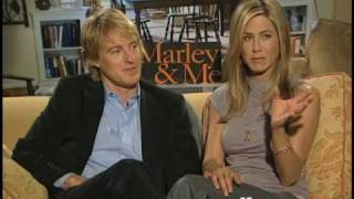 EXCLUSIVE ONE ON ONE WITH JENNIFER ANISTON + OWEN WILSON MARLEY & ME